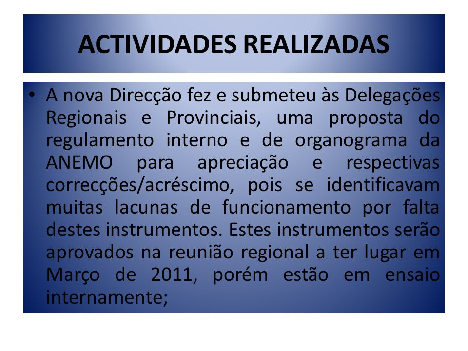 ACTIVIDADES REALIZADAS