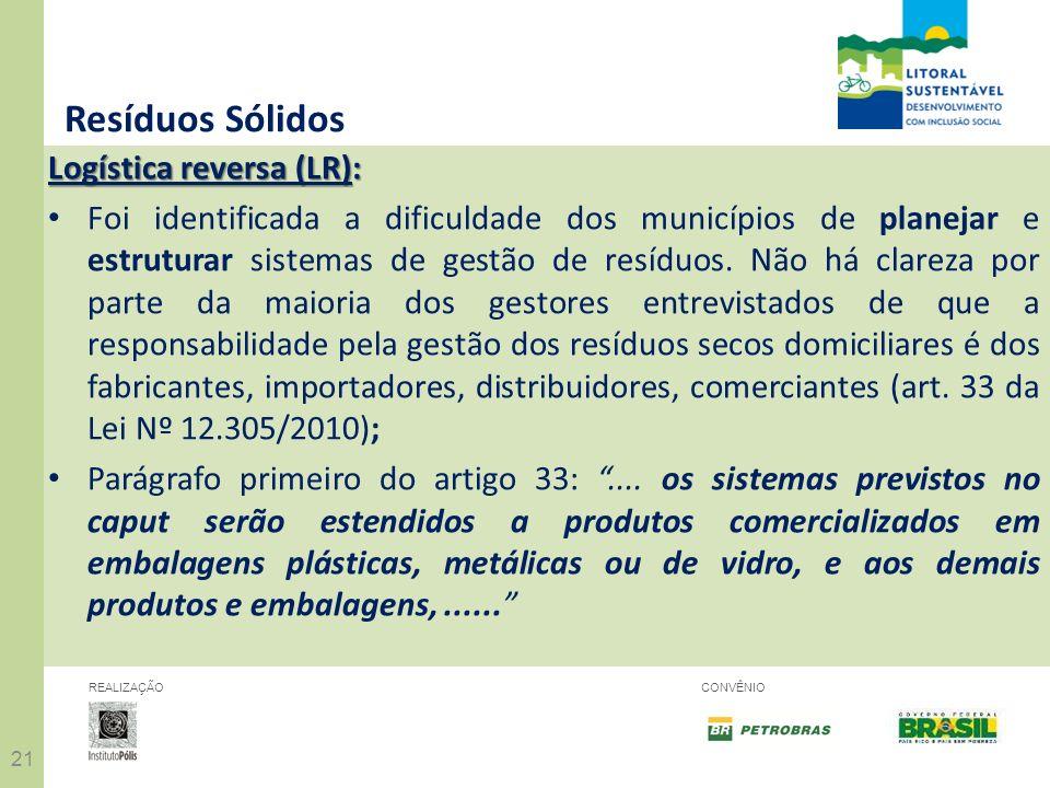 Resíduos Sólidos Logística reversa (LR):