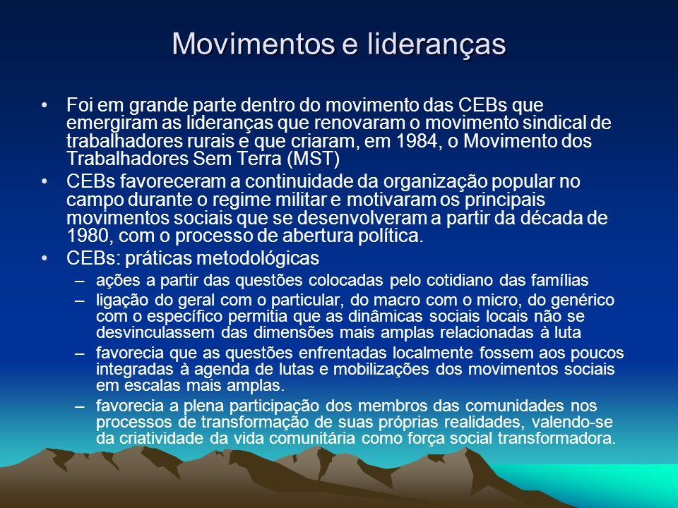 Movimentos e lideranças