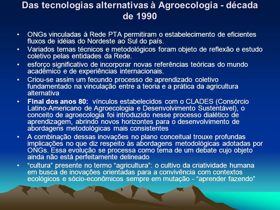 Das tecnologias alternativas à Agroecologia - década de 1990