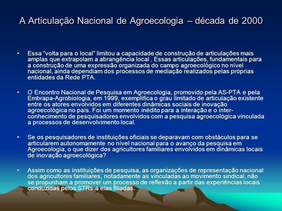 A Articulação Nacional de Agroecologia – década de 2000