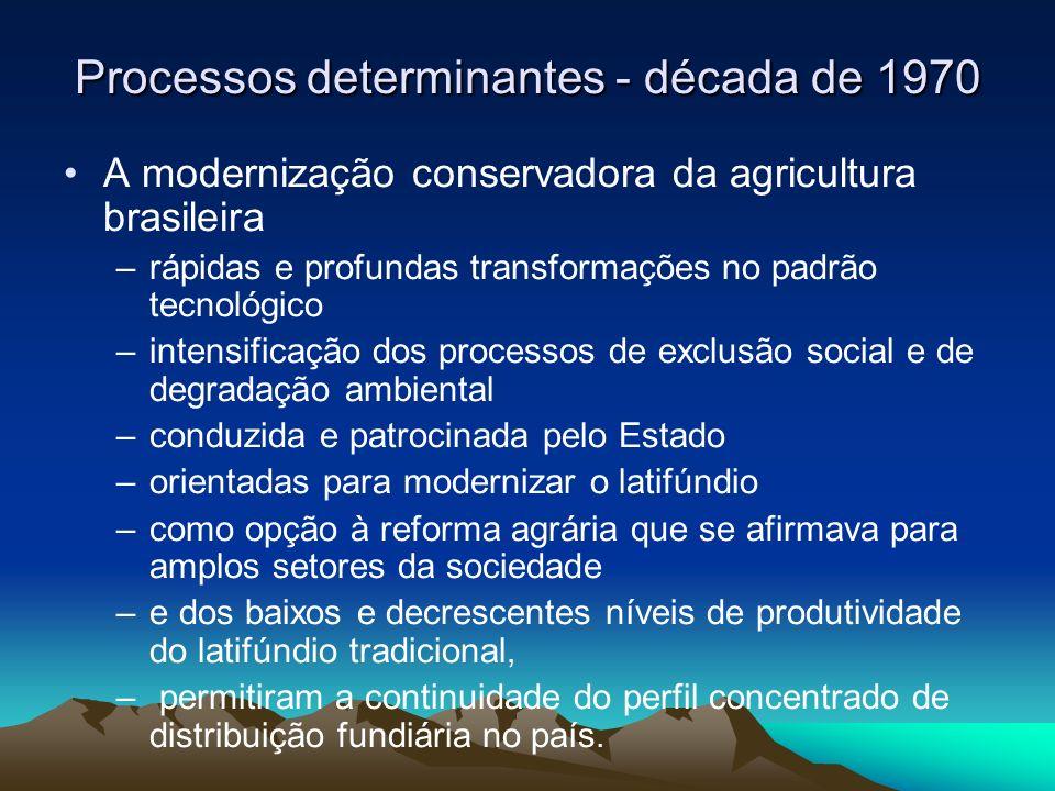 Processos determinantes - década de 1970