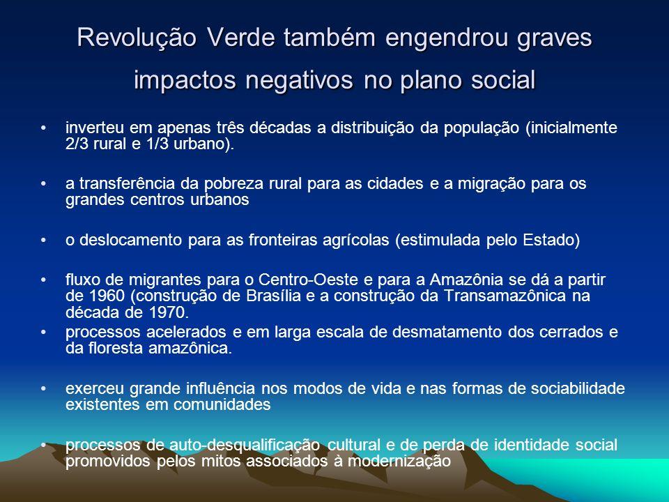 Revolução Verde também engendrou graves impactos negativos no plano social