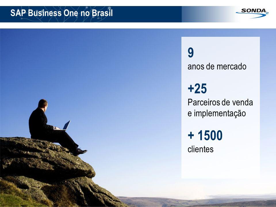 9 anos de mercado +25 + 1500 SAP Business One no Brasil