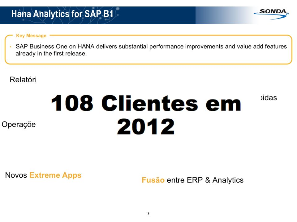 Hana Analytics for SAP B1