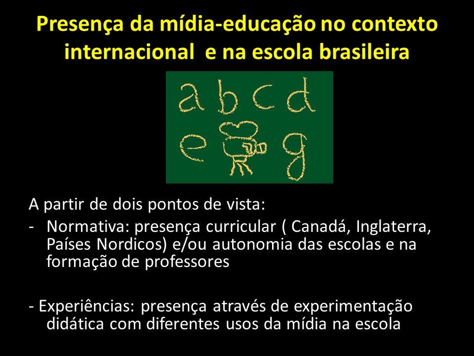 Presença da mídia-educação no contexto internacional e na escola brasileira