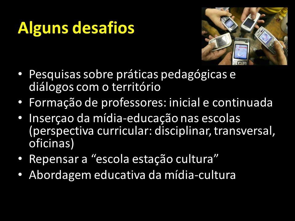 Alguns desafios Pesquisas sobre práticas pedagógicas e diálogos com o território. Formação de professores: inicial e continuada.