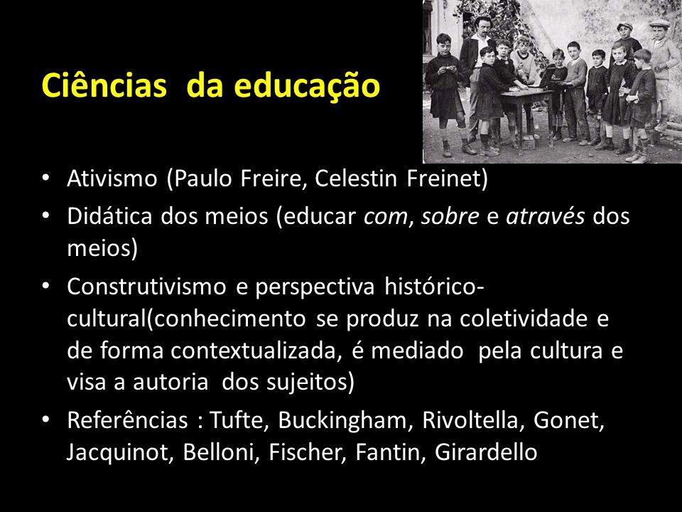 Ciências da educação Ativismo (Paulo Freire, Celestin Freinet)