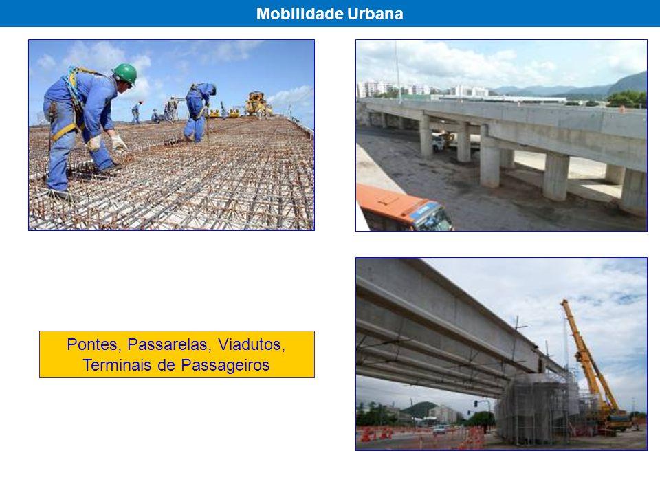 Pontes, Passarelas, Viadutos, Terminais de Passageiros