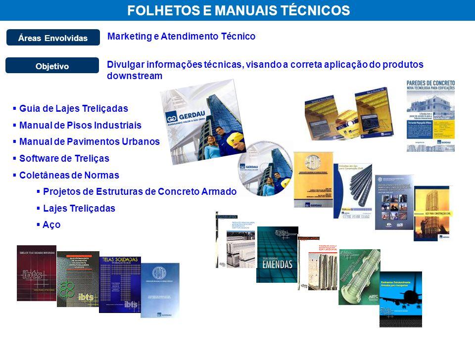 FOLHETOS E MANUAIS TÉCNICOS