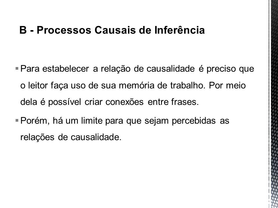 B - Processos Causais de Inferência