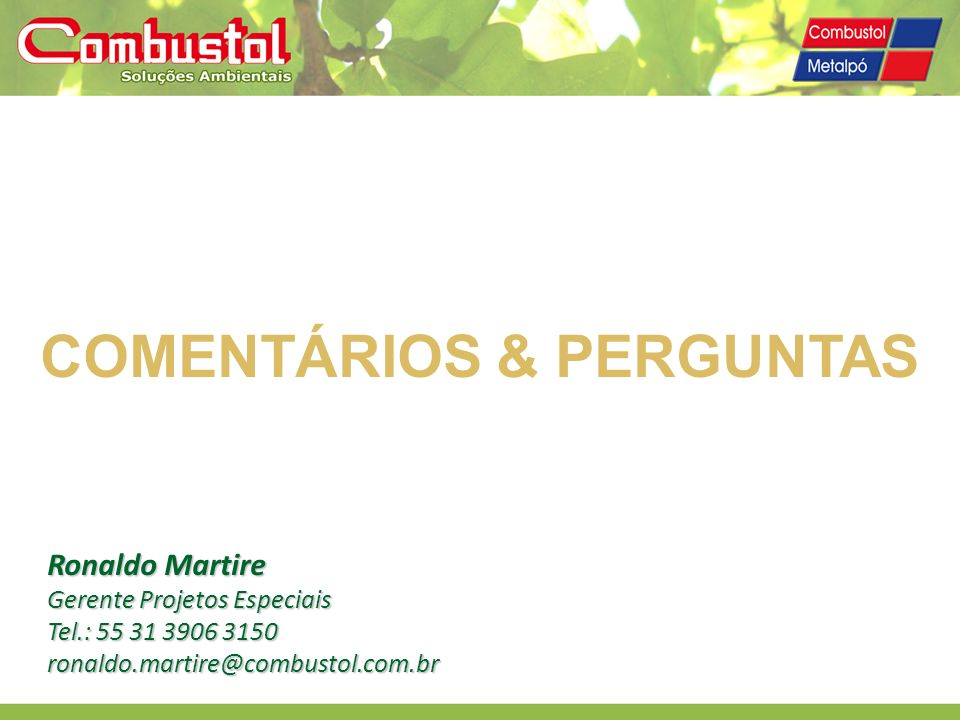 COMENTÁRIOS & PERGUNTAS