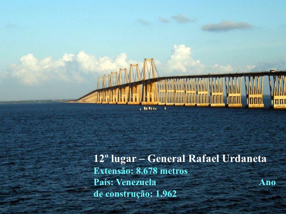 12º lugar – General Rafael Urdaneta Extensão: 8
