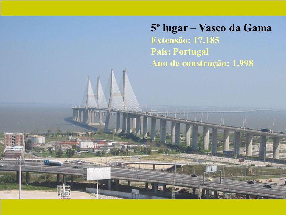 5º lugar – Vasco da Gama Extensão: 17