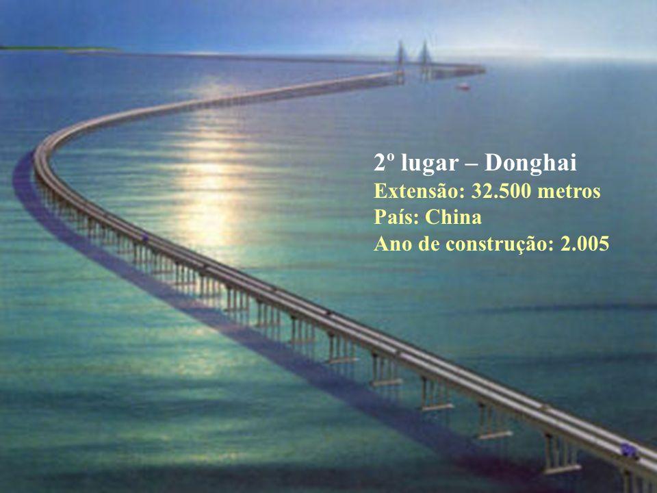 2º lugar – Donghai Extensão: 32