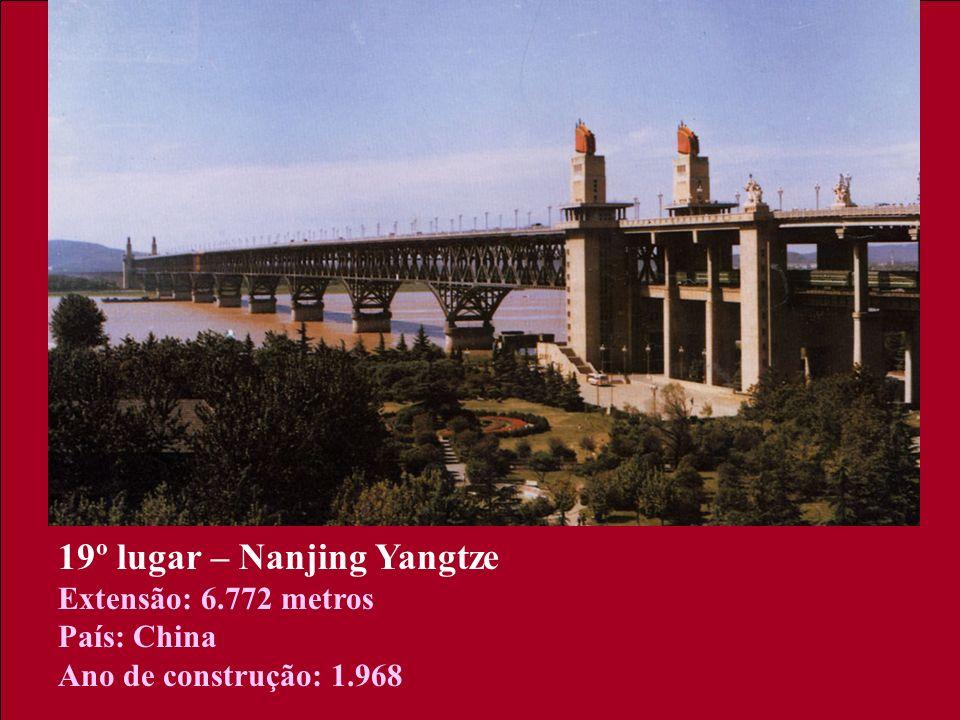 19º lugar – Nanjing Yangtze Extensão: 6