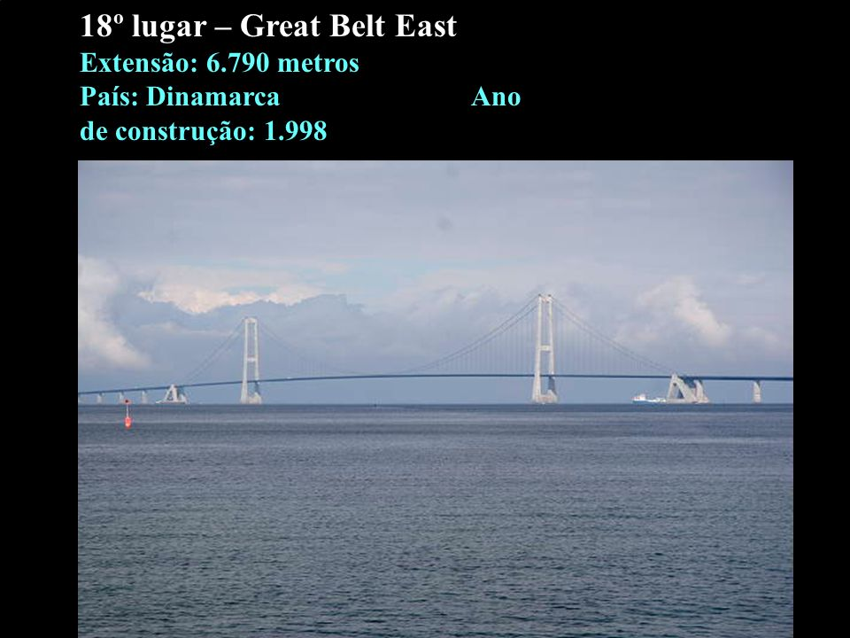18º lugar – Great Belt East Extensão: 6