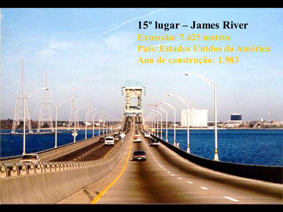 15º lugar – James River Extensão: 7