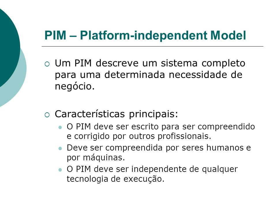 PIM – Platform-independent Model