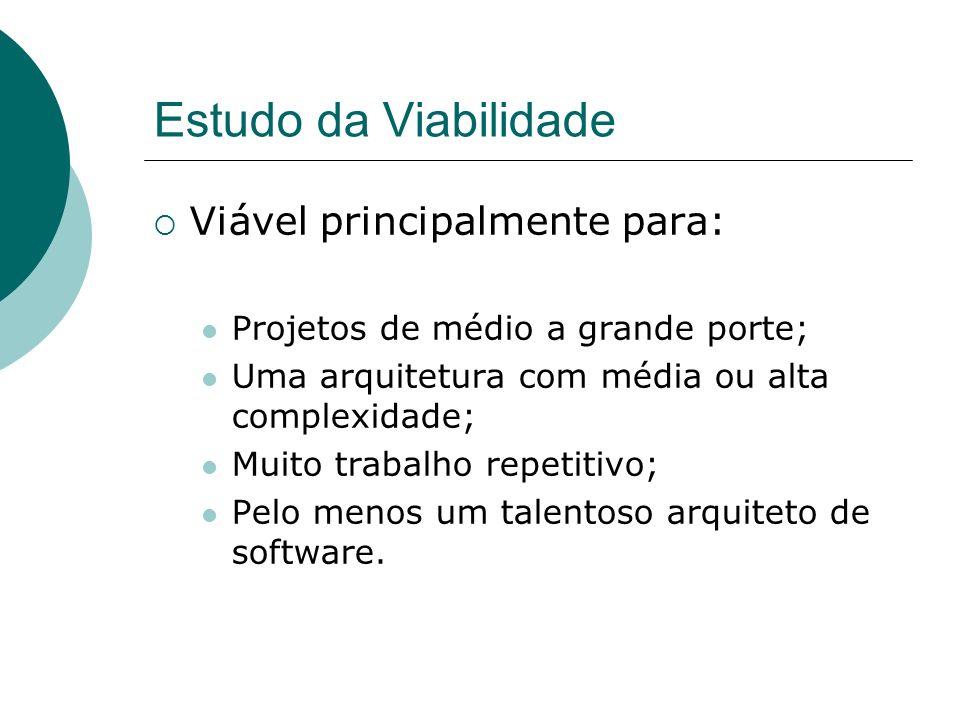 Estudo da Viabilidade Viável principalmente para:
