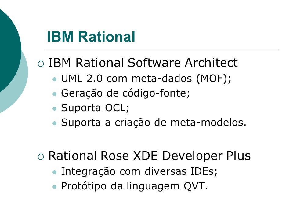 IBM Rational IBM Rational Software Architect
