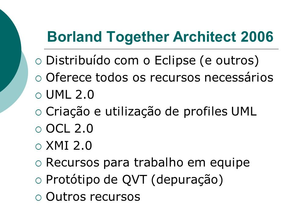 Borland Together Architect 2006