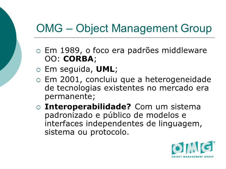 OMG – Object Management Group