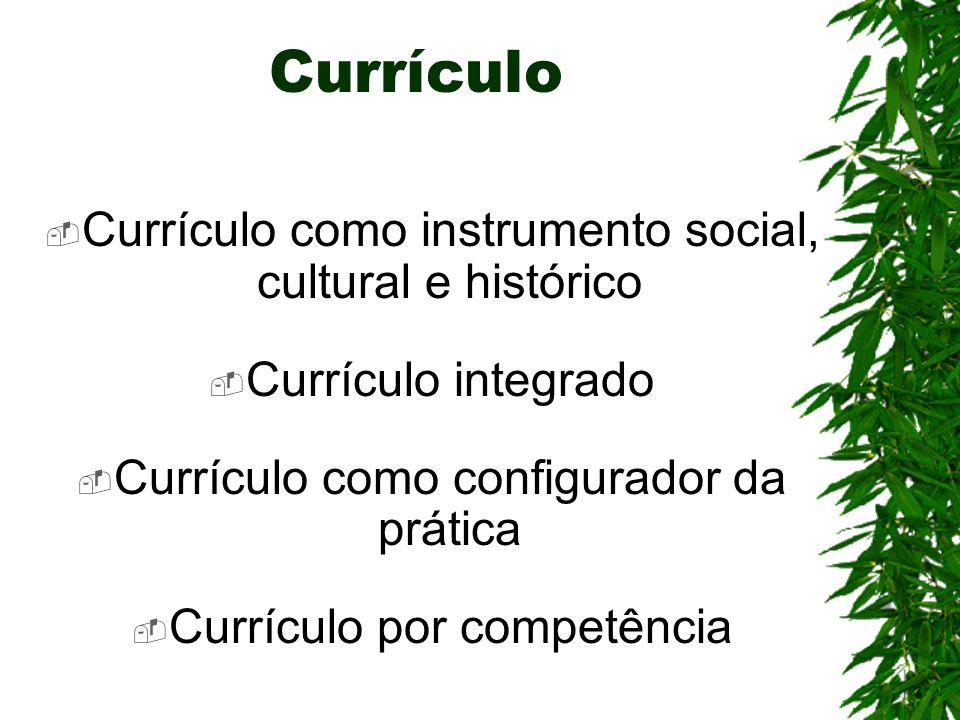 Currículo Currículo como instrumento social, cultural e histórico