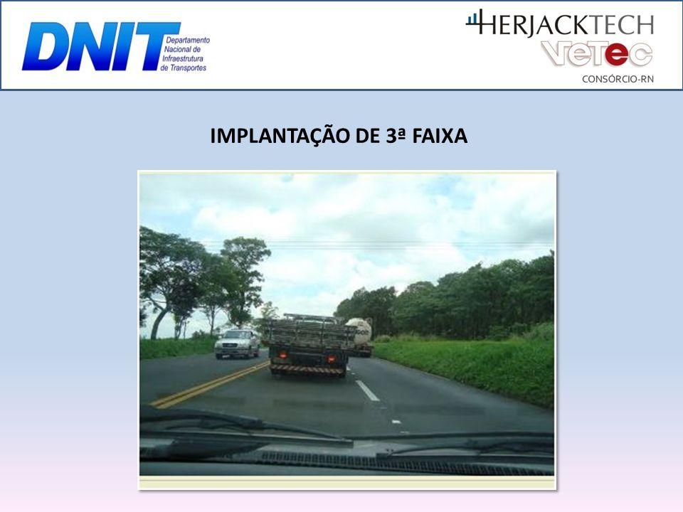 IMPLANTAÇÃO DE 3ª FAIXA