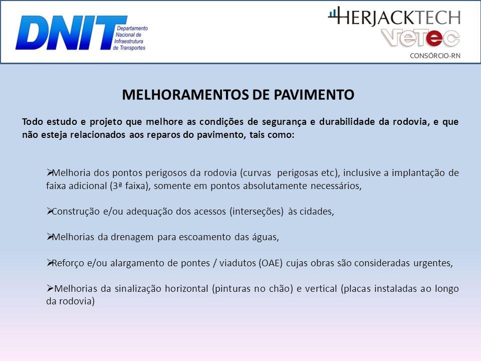 MELHORAMENTOS DE PAVIMENTO