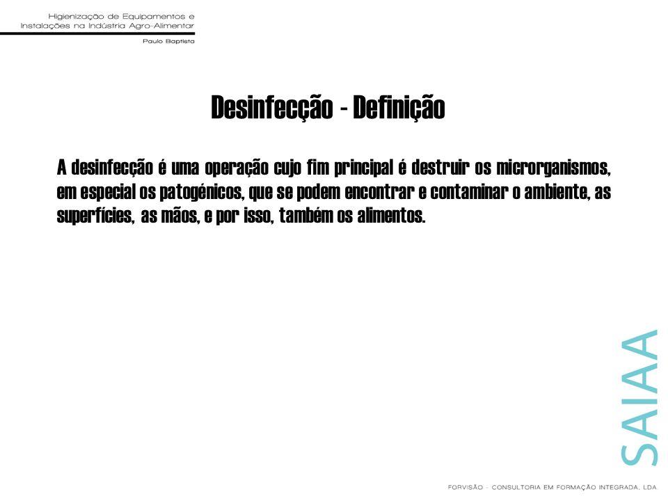 Desinfecção - Definição