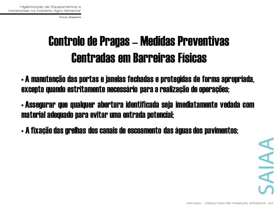 Controlo de Pragas – Medidas Preventivas