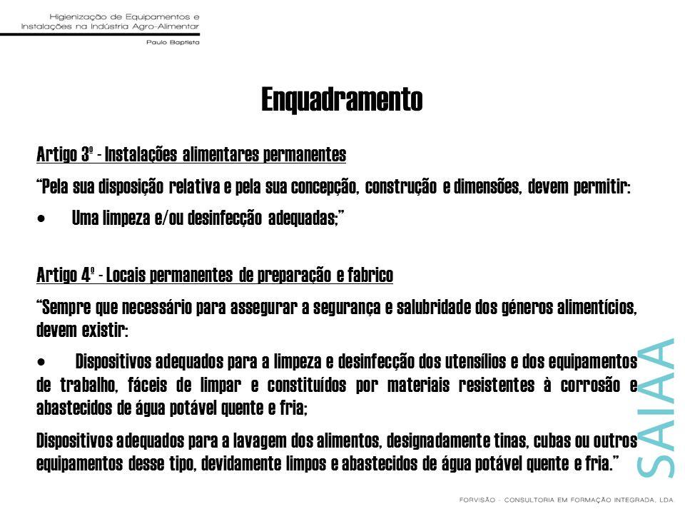 Enquadramento Artigo 3º - Instalações alimentares permanentes