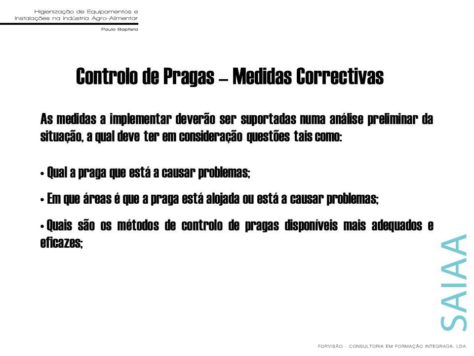 Controlo de Pragas – Medidas Correctivas