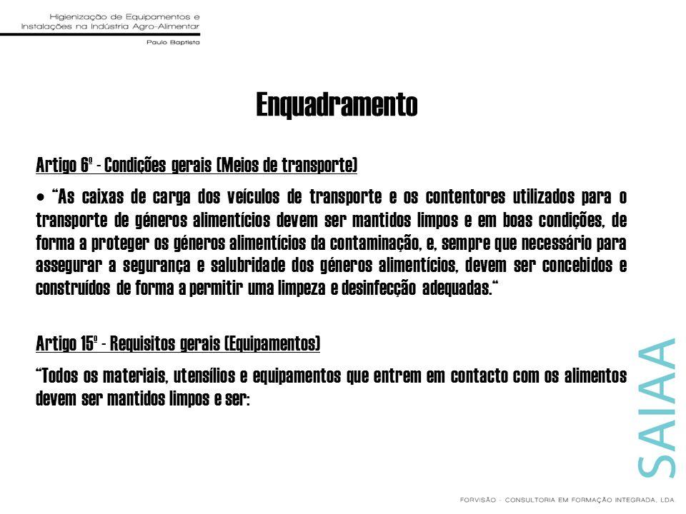 Enquadramento Artigo 6º - Condições gerais (Meios de transporte)