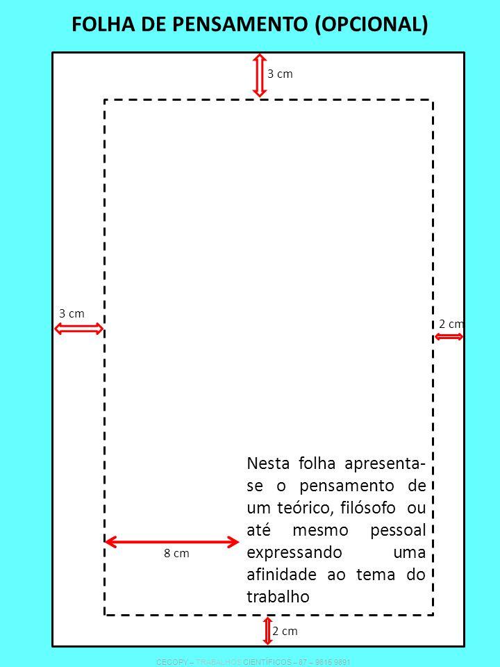 FOLHA DE PENSAMENTO (OPCIONAL)