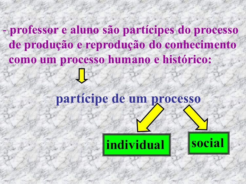 partícipe de um processo