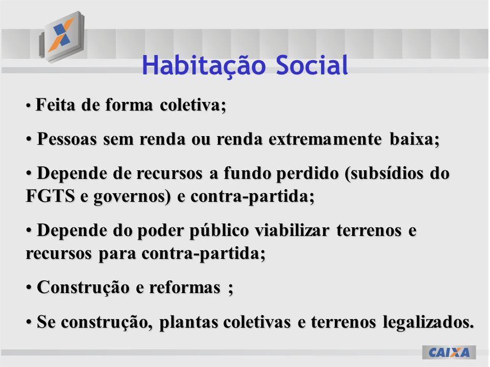 Habitação Social Pessoas sem renda ou renda extremamente baixa;