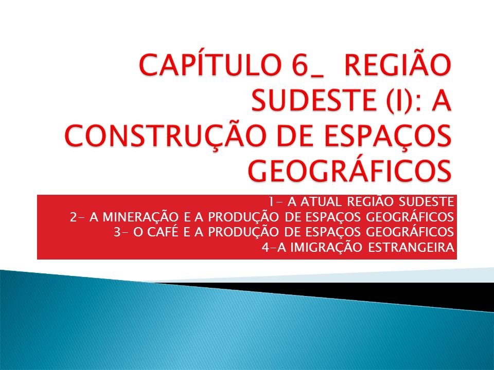 1- A ATUAL REGIÃO SUDESTE
