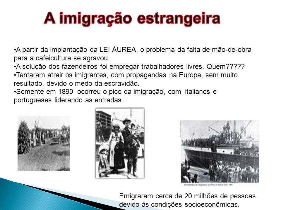 A imigração estrangeira