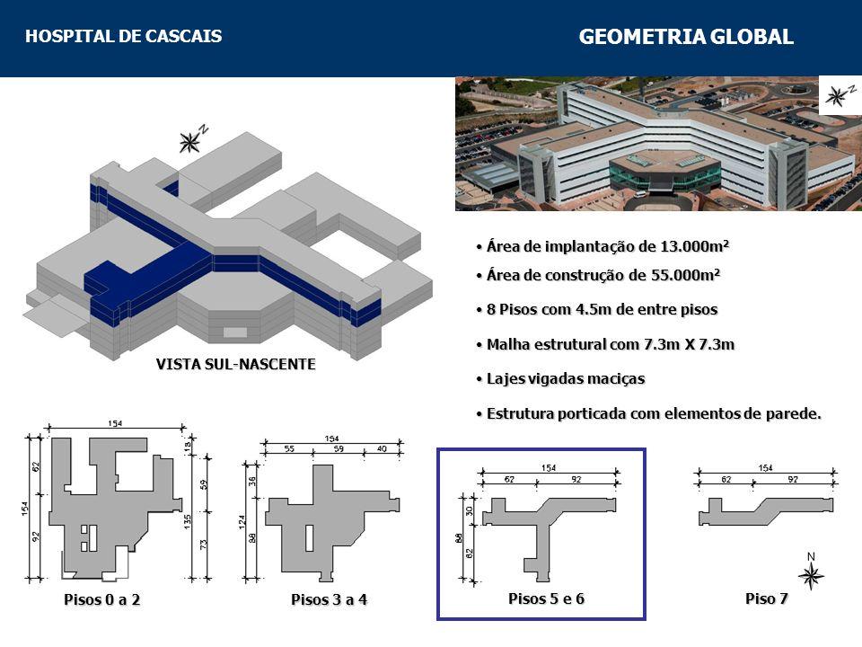 GEOMETRIA GLOBAL Área de implantação de 13.000m2
