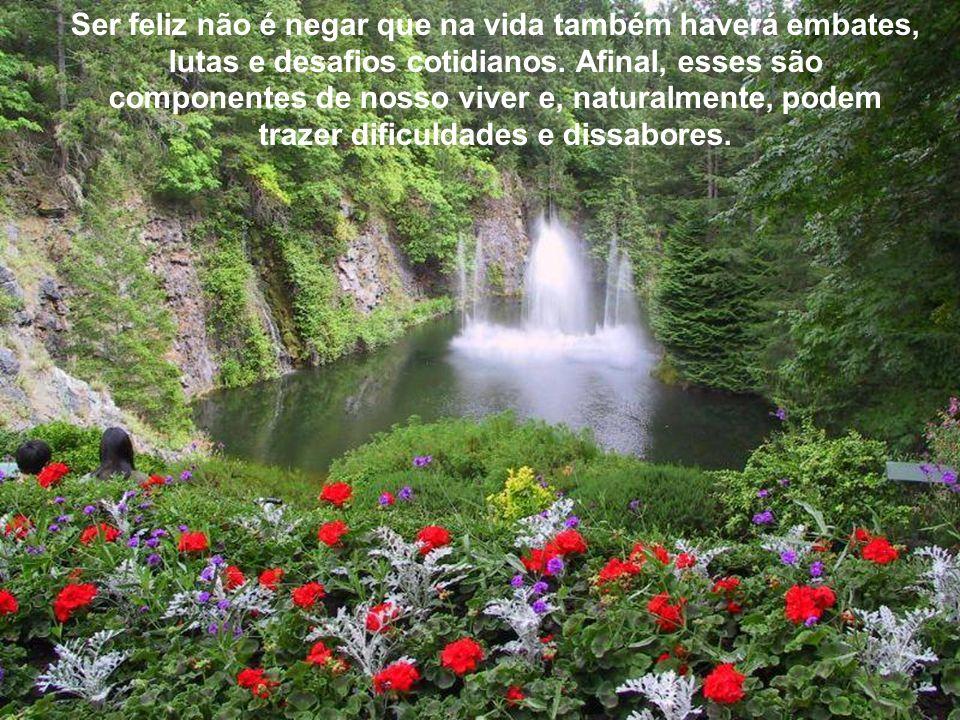 Ser feliz não é negar que na vida também haverá embates, lutas e desafios cotidianos.