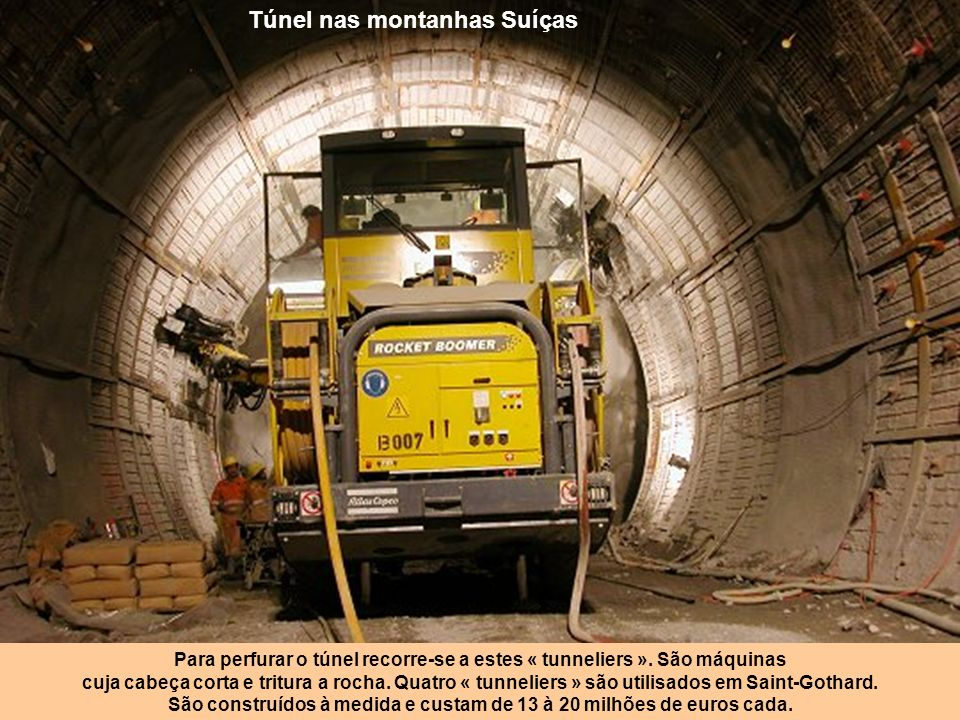 Túnel nas montanhas Suíças