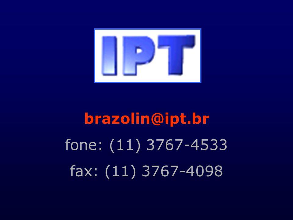 brazolin@ipt.br fone: (11) 3767-4533 fax: (11) 3767-4098