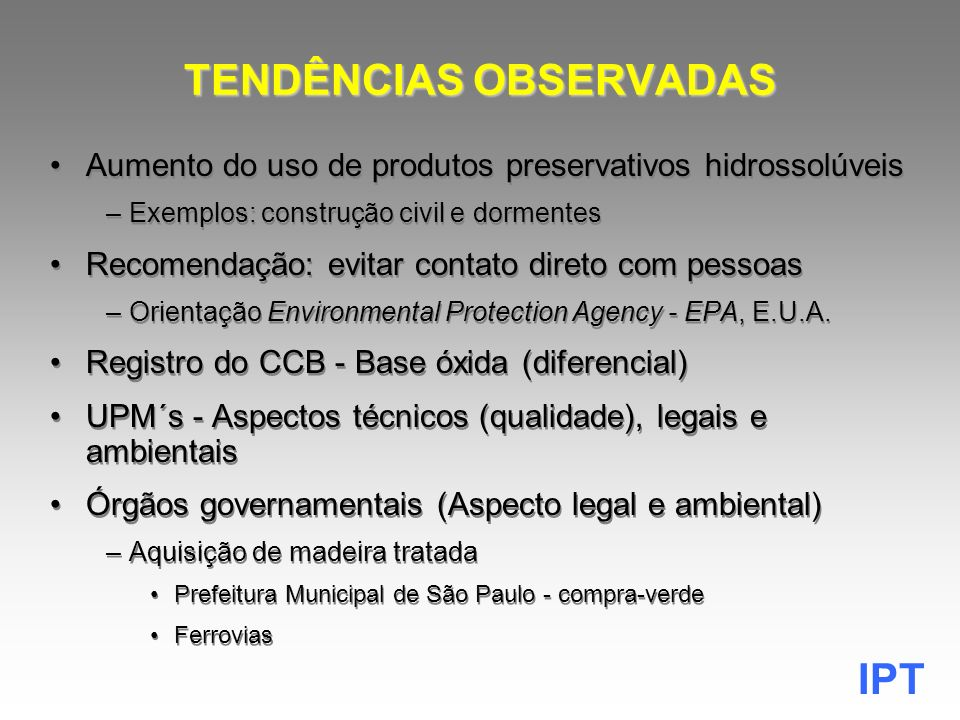 TENDÊNCIAS OBSERVADAS
