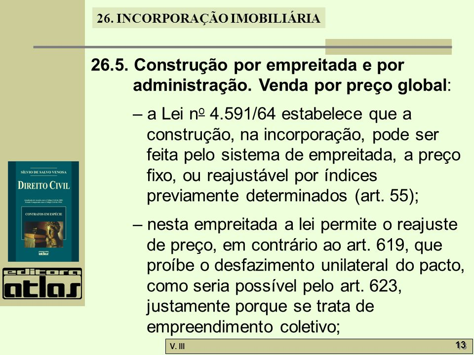 26. 5. Construção por empreitada e por administração