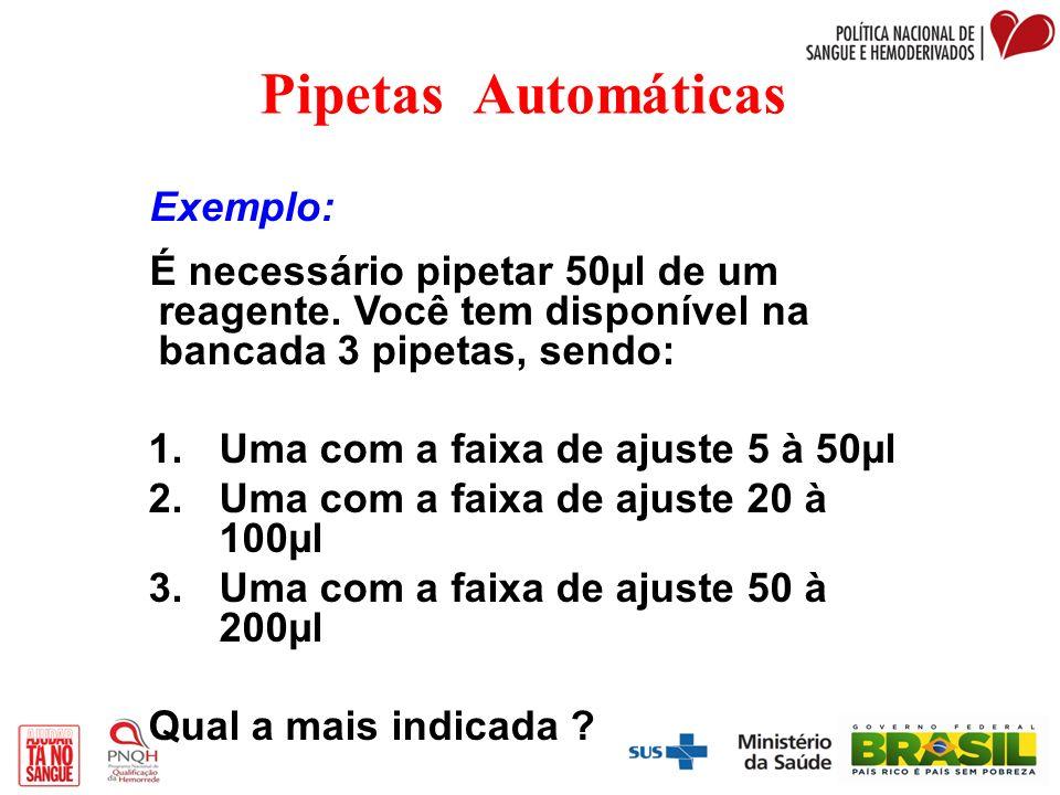 Pipetas Automáticas Exemplo: