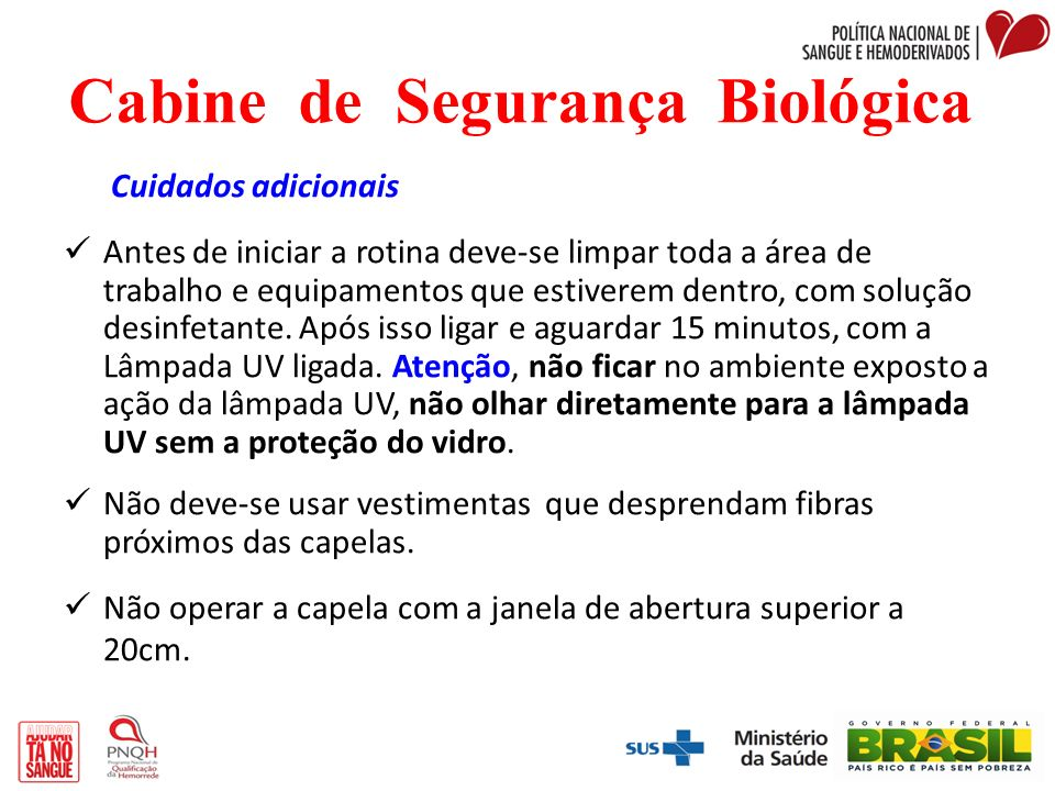 Cabine de Segurança Biológica