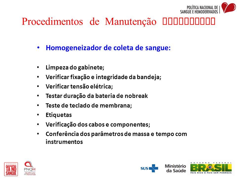 Procedimentos de Manutenção Preventiva
