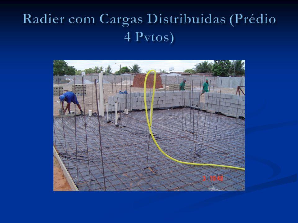 Radier com Cargas Distribuidas (Prédio 4 Pvtos)